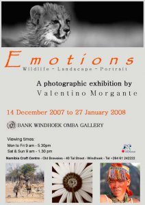 Poster della mostra Emotions a Windhoek